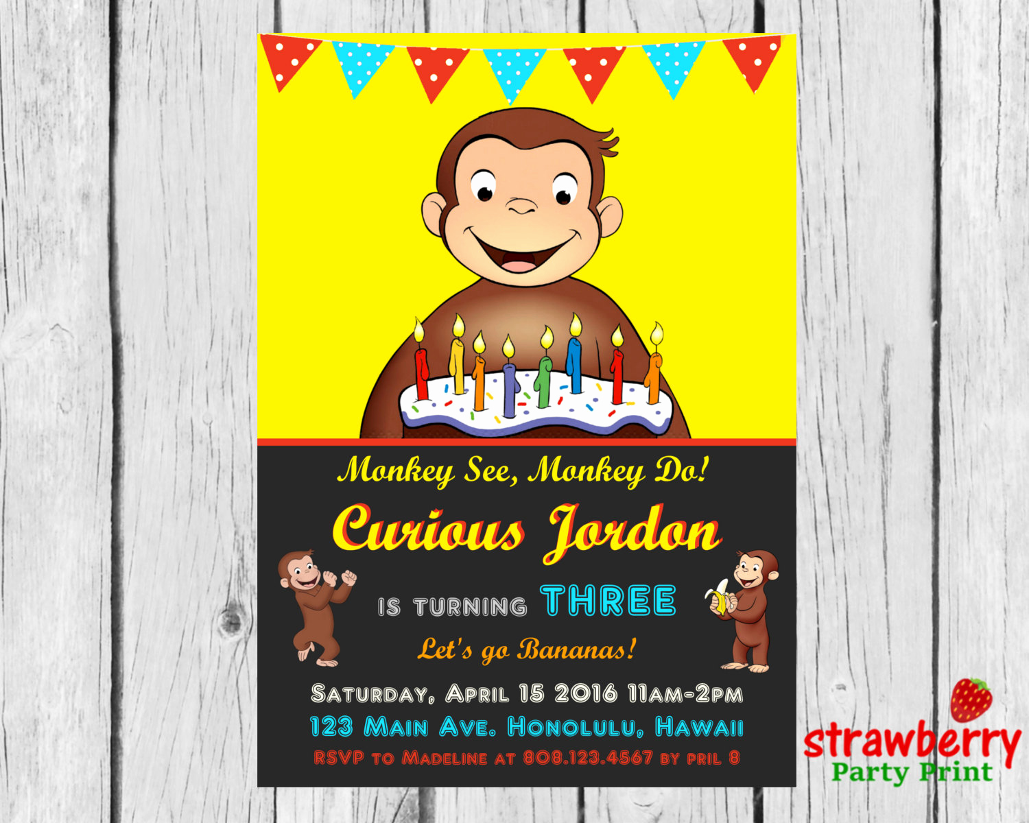 Curious George Invitation Template Best Of Curious George Birthday Invitation Curious by