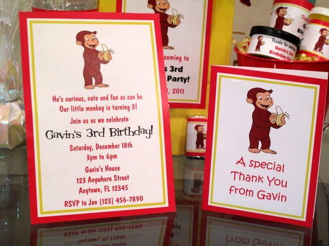 Curious George Invitation Template Best Of Curious George Birthday Party Pdf Cd W Invitation Favor