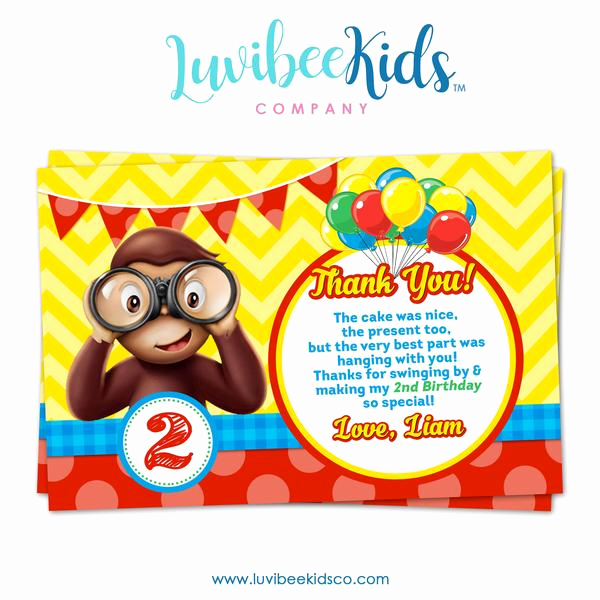 Curious George Invitation Template Best Of Curious George Invitations by Luvibeekids Co – Luvibeekidsco