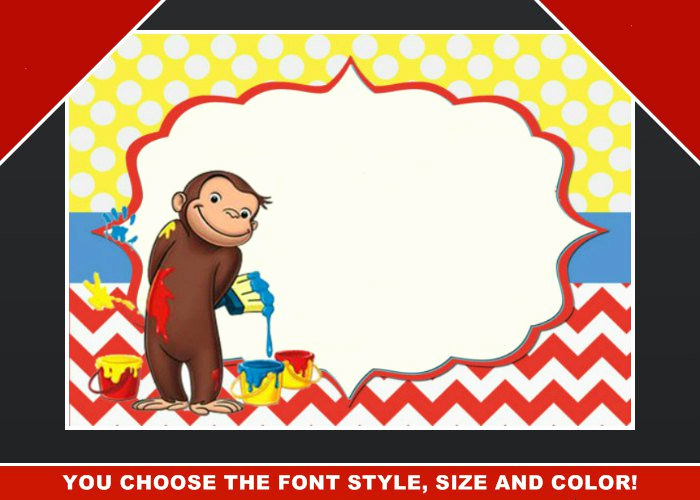 Curious George Invitation Template Elegant Curious George Invitation Blank