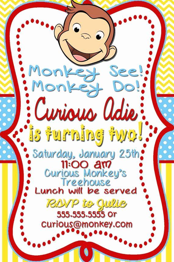 Curious George Invitation Template Inspirational Free Curious George Birthday Invitations