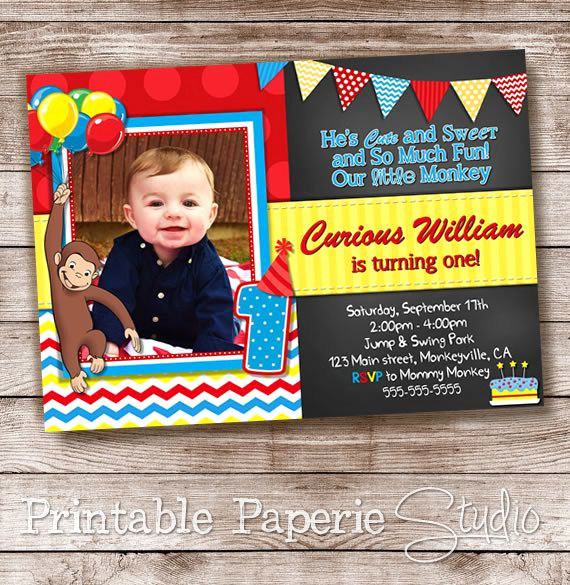 Curious George Invitation Template Lovely 17 Best Ideas About 2nd Birthday Invitations On Pinterest