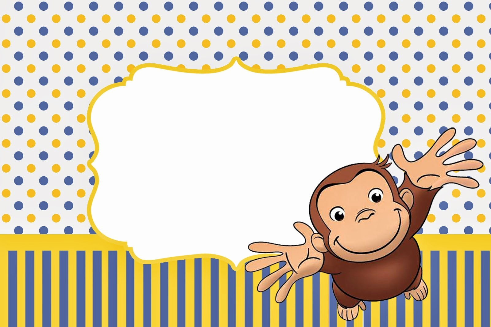 Curious George Invitation Template Luxury Curious George Free Printable Invitations