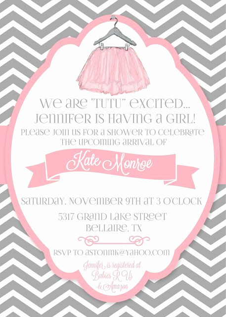 Cute Baby Shower Invitation Ideas Awesome 25 Best Ideas About Tutu Invitations On Pinterest