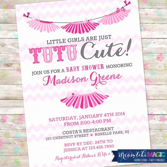 Cute Baby Shower Invitation Ideas Beautiful Baby Girl Shower Girl Shower and Tutus On Pinterest