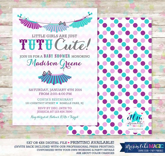 Cute Baby Shower Invitation Ideas Beautiful Tutu Cute Tutu Thrilled Baby Shower Invite Baby Girl