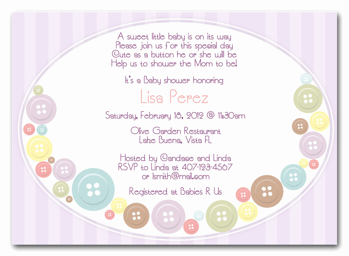 Cute Baby Shower Invitation Ideas Best Of Cute as A button Baby Shower Invitations Girl or by