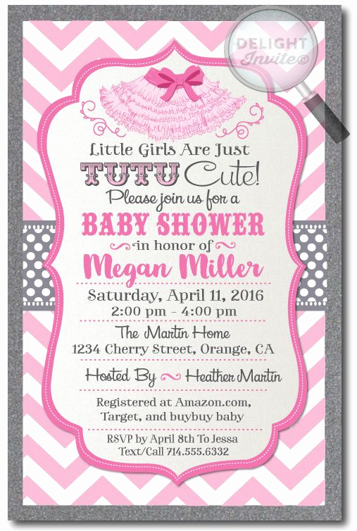 Cute Baby Shower Invitation Ideas Elegant 25 Best Ideas About Tutu Invitations On Pinterest