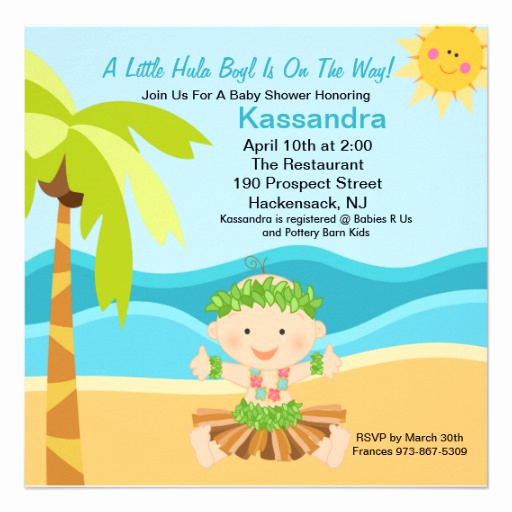"Cute Baby Shower Invitation Ideas Lovely Cute Baby Hula Boy Baby Shower Invitation 5 25"" Square"