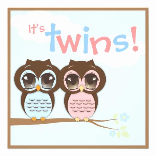 "Cute Baby Shower Invitation Ideas Luxury Cute Baby Owls Twins Baby Shower Invitation 5 25"" Square"