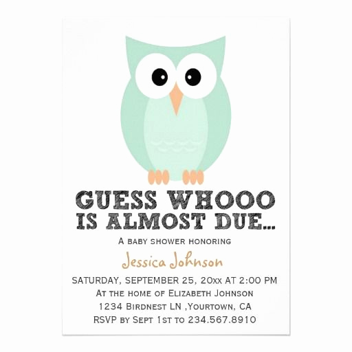 Cute Baby Shower Invitation Ideas New Cute Simple Owl Boy Baby Shower Invitation