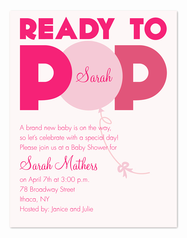 Cute Baby Shower Invitation Wording Awesome Ready to Pop Baby Shower Invitations by Invitation