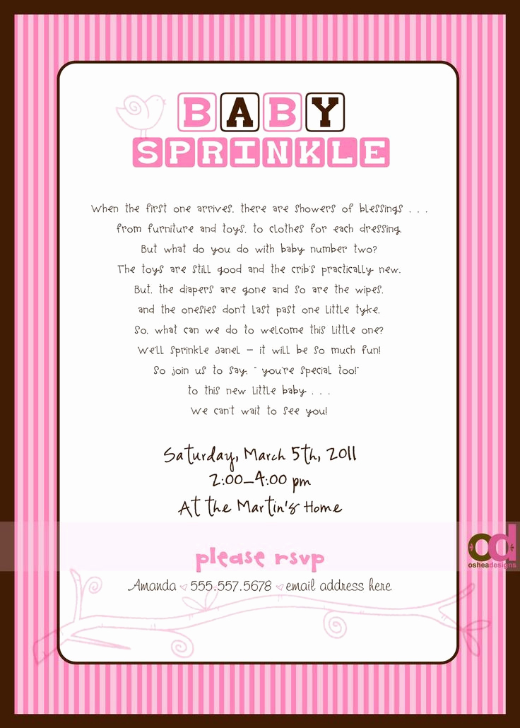 "Cute Baby Shower Invitation Wording Best Of ""sprinkle"" Invitations Wording Wish I Would Have Found"