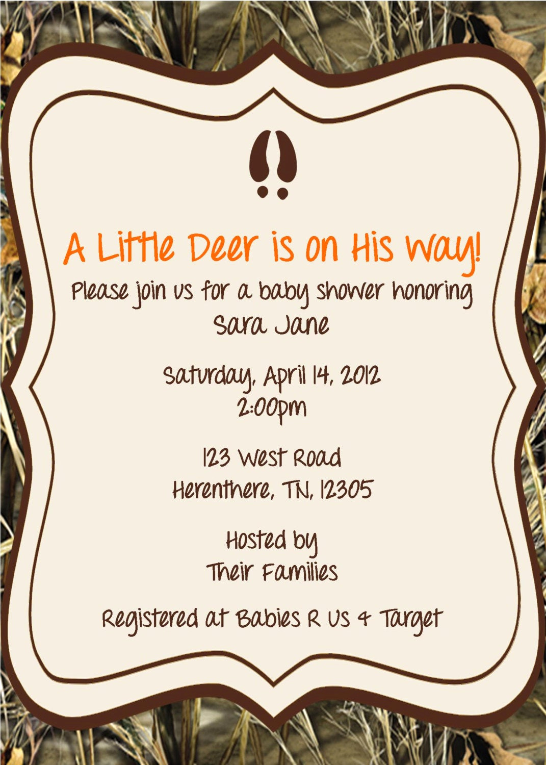 Cute Baby Shower Invitation Wording Elegant Little Hunter Baby Shower Invitation by Whateveris On Etsy