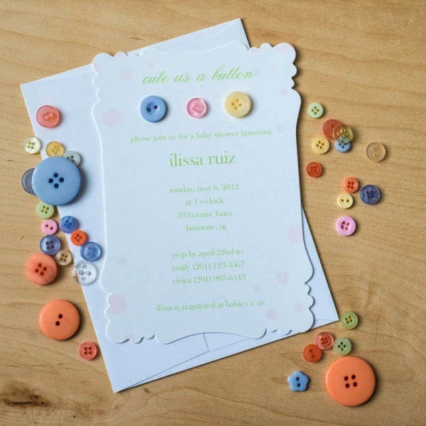 Cute Baby Shower Invitation Wording Luxury Cute as A button Baby Shower Invitations too Chic