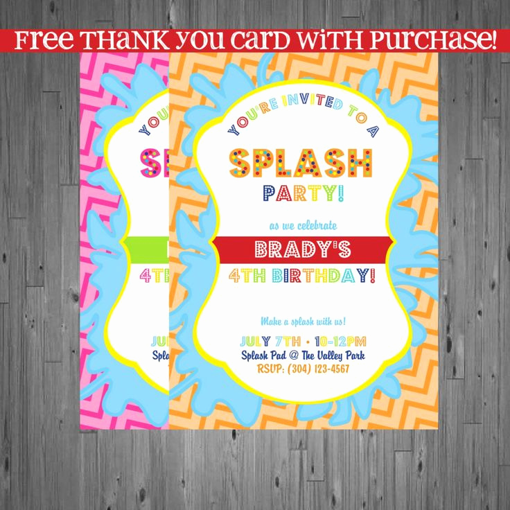 Cute Birthday Invitation Ideas Awesome Cute Splash Party Invitation