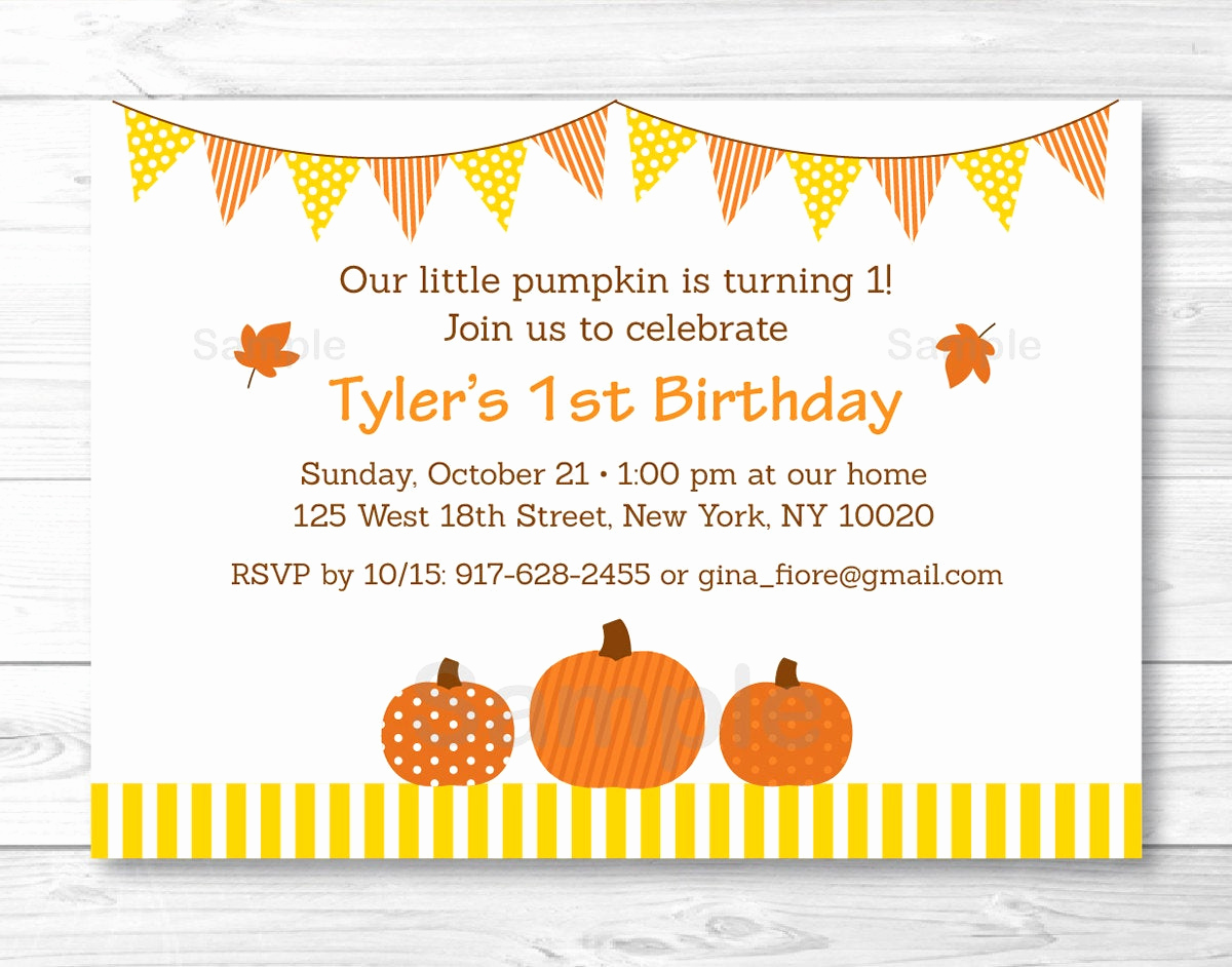 Cute Birthday Invitation Ideas Beautiful Cute Pumpkin Birthday Invitation Pumpkin Birthdy Invite