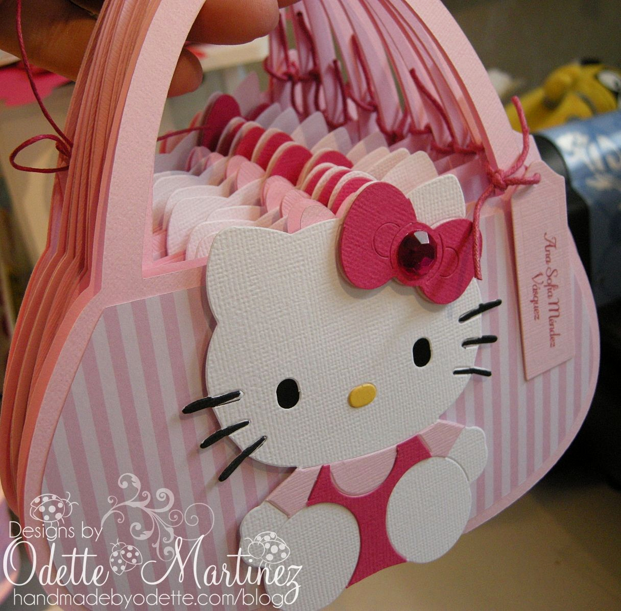 Cute Birthday Invitation Ideas Lovely Cute Little Hello Kitty Bag Invite orable