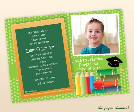 Cute Graduation Invitation Ideas Beautiful 17 Best Images About Preschool Graduation On Pinterest