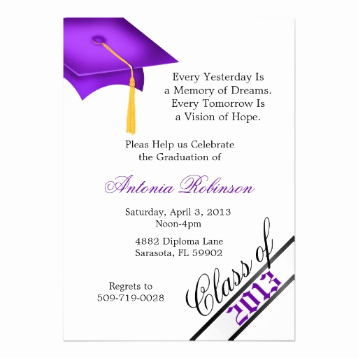 Cute Graduation Invitation Ideas Beautiful Cute Elegant Graduation Announcement Invitation