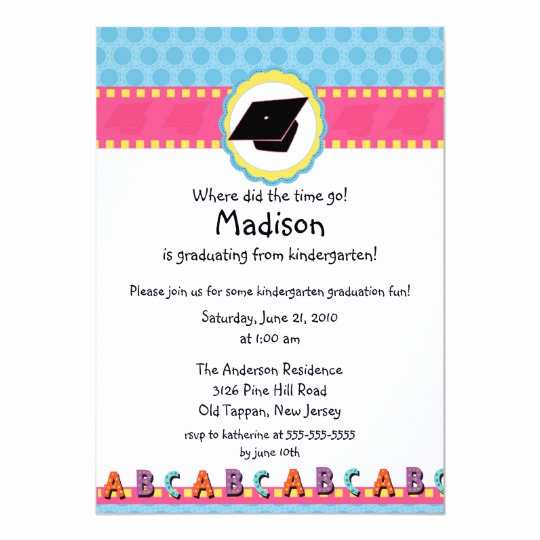 Cute Graduation Invitation Ideas Beautiful Cute Pink Girls Kindergarten Graduation Invitation