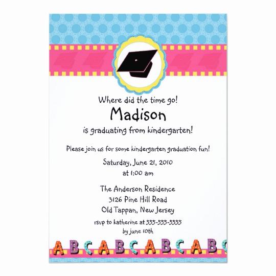 Cute Graduation Invitation Ideas Beautiful Cute Pink Girls Kindergarten Graduation Invitation