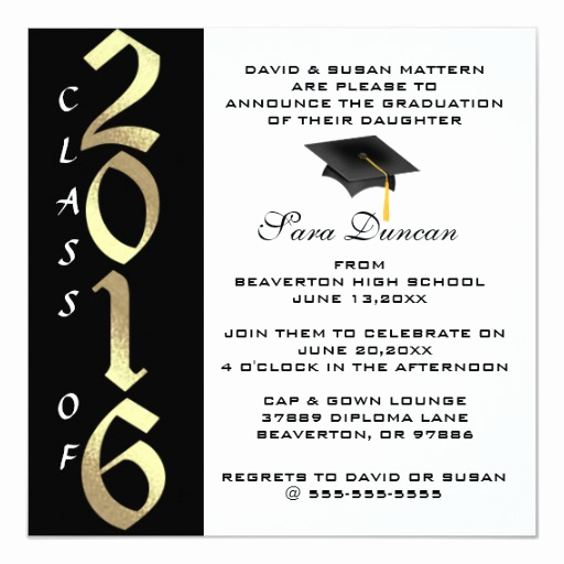 Cute Graduation Invitation Ideas Lovely Cute Classic Elegant 2016 Graduation Invitation
