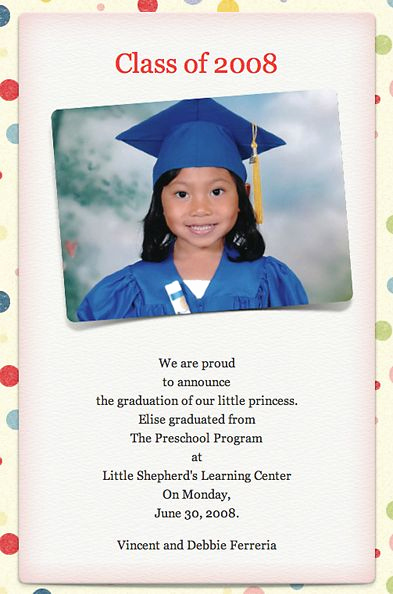 Cute Graduation Invitation Ideas Lovely Cute Preschool Graduation Quotes Quotesgram