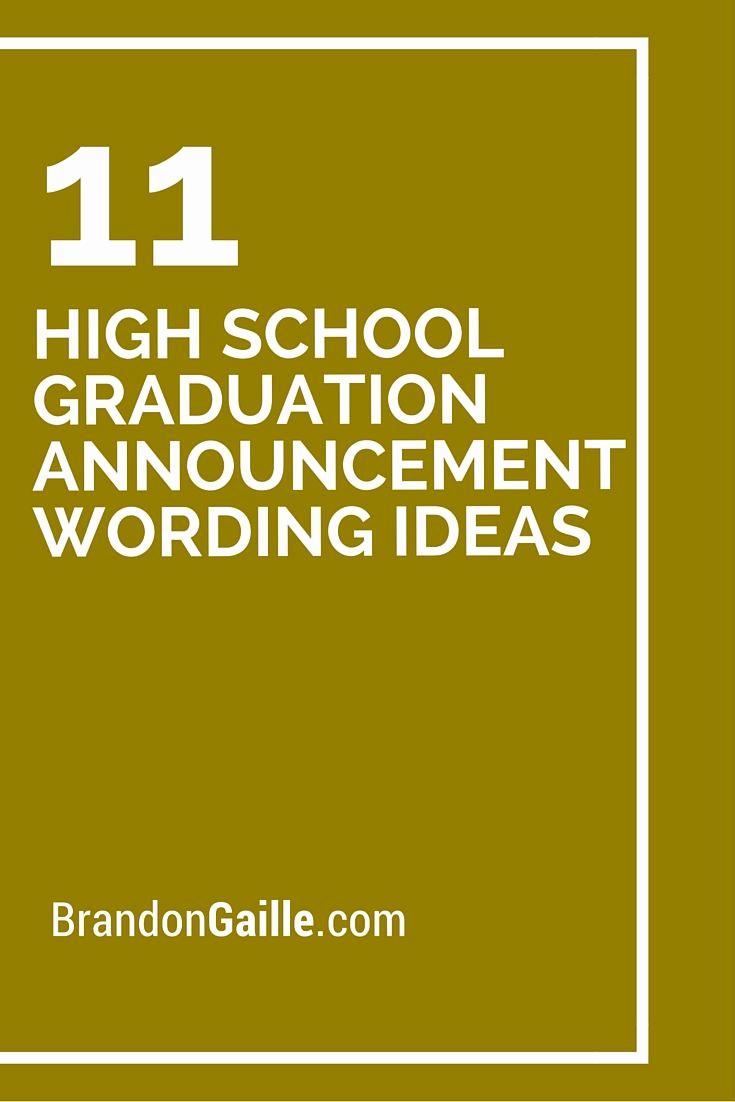 Cute Graduation Invitation Ideas New 11 High School Graduation Announcement Wording Ideas