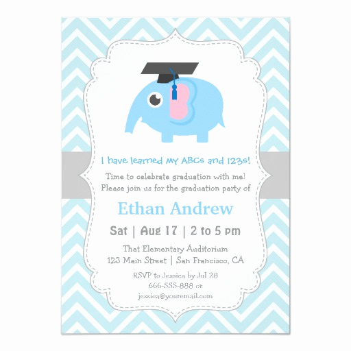 Cute Graduation Invitation Ideas New Cute Elephant Kids Kindergarten Graduation Party 11 Cm X