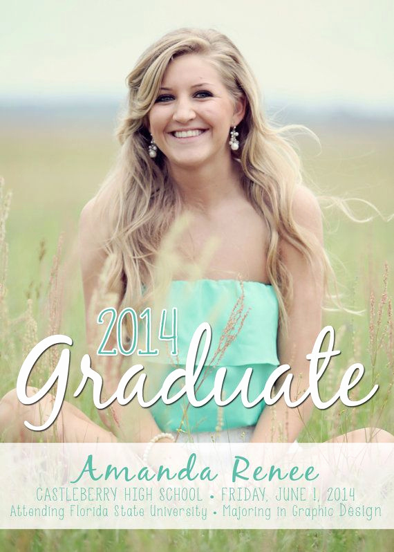 Cute Graduation Invitation Ideas Unique Senior Graduation Announcement 2014 Digital Photo 2014