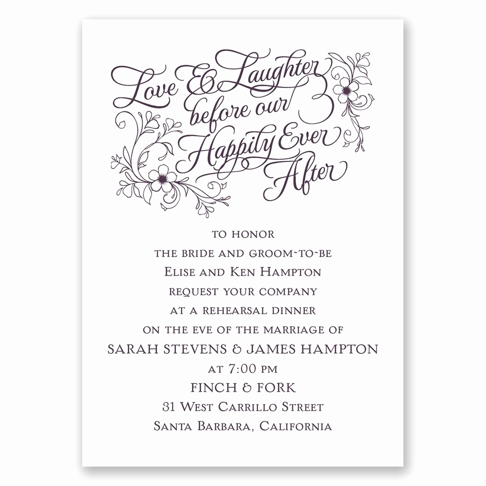 Cute Rehearsal Dinner Invitation Wording Beautiful Love & Laughter Mini Rehearsal Dinner Invitation