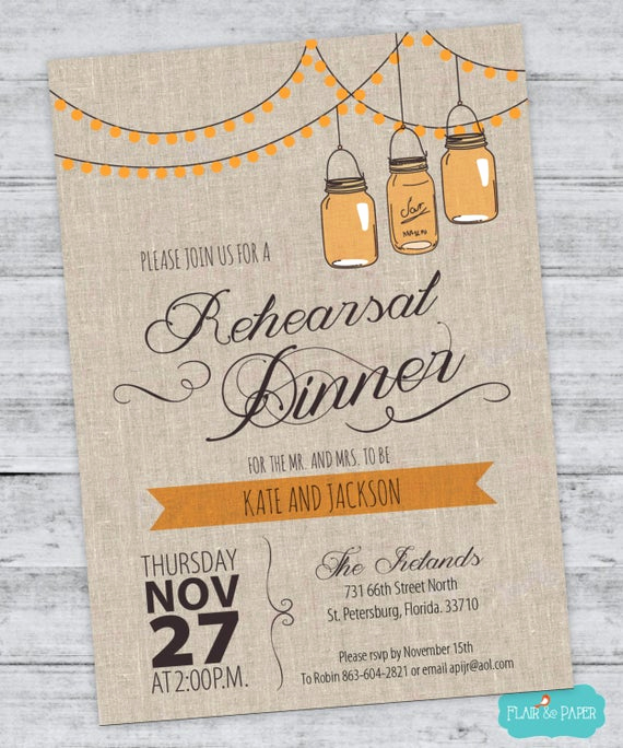 Cute Rehearsal Dinner Invitation Wording Elegant Rustic Rehearsal Dinner Invitation Dinner Party by