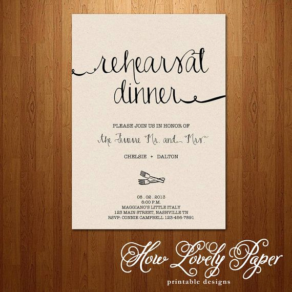 Cute Rehearsal Dinner Invitation Wording New Printable Rehearsal Dinner Invitation the Jane Collection