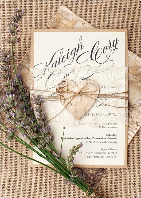 Cute Wedding Invitation Ideas Elegant top 15 Popular Rustic Wedding Invitaitons Idea Samples On