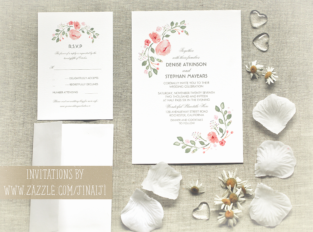 Cute Wedding Invitation Ideas Luxury Cute Watercolor Flowers Wedding Invitations – Need Wedding
