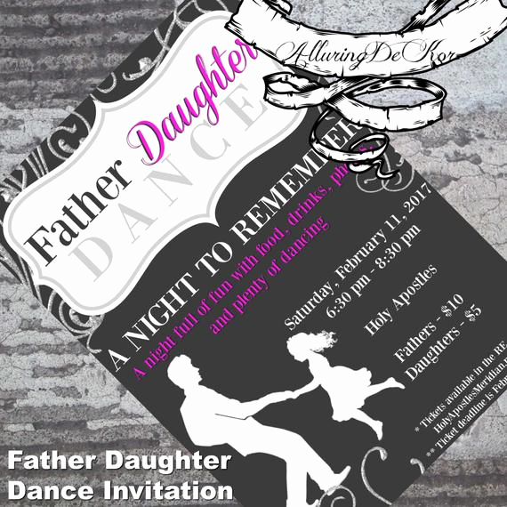 Daddy Daughter Dance Invitation Elegant Father Daughter Dance Invitation