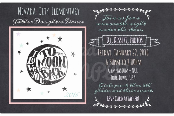 Daddy Daughter Dance Invitation Elegant Items Similar to Father Daughter Dance Chalkboard