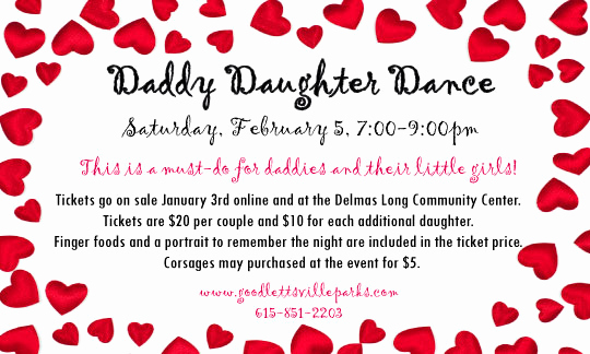 Daddy Daughter Dance Invitation Inspirational Goodlettsville Tn Ficial Website