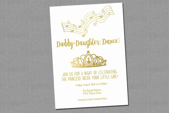 Daddy Daughter Dance Invitation New Daddy Daughter Dance Invitation Printable 1255