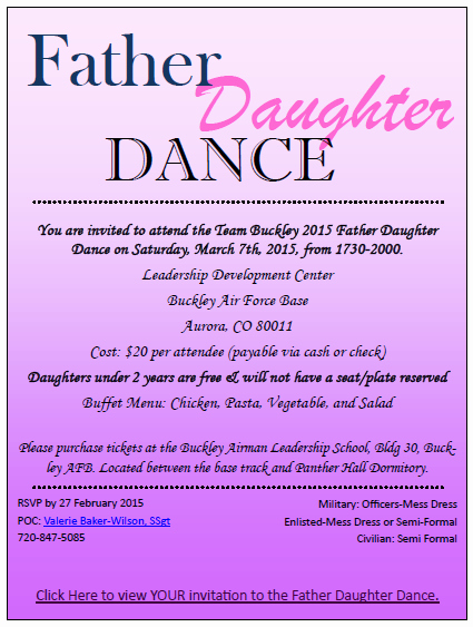Daddy Daughter Dance Invitation Unique Father Daughter Dance Colorado National Guard Family