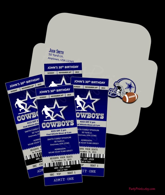 Dallas Cowboys Invitation Template Awesome Unavailable Listing On Etsy