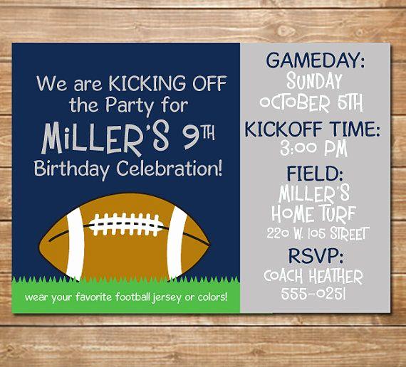 Dallas Cowboys Invitation Template Beautiful 17 Best Ideas About Football Invitations On Pinterest