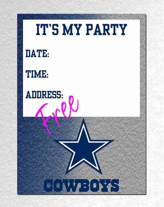 Dallas Cowboys Invitation Template Beautiful Dallas Cowboys Kids Invitations