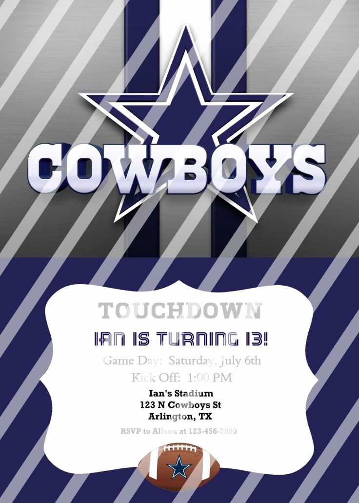 Dallas Cowboys Invitation Template Fresh Best 25 Dallas Cowboys Party Ideas On Pinterest