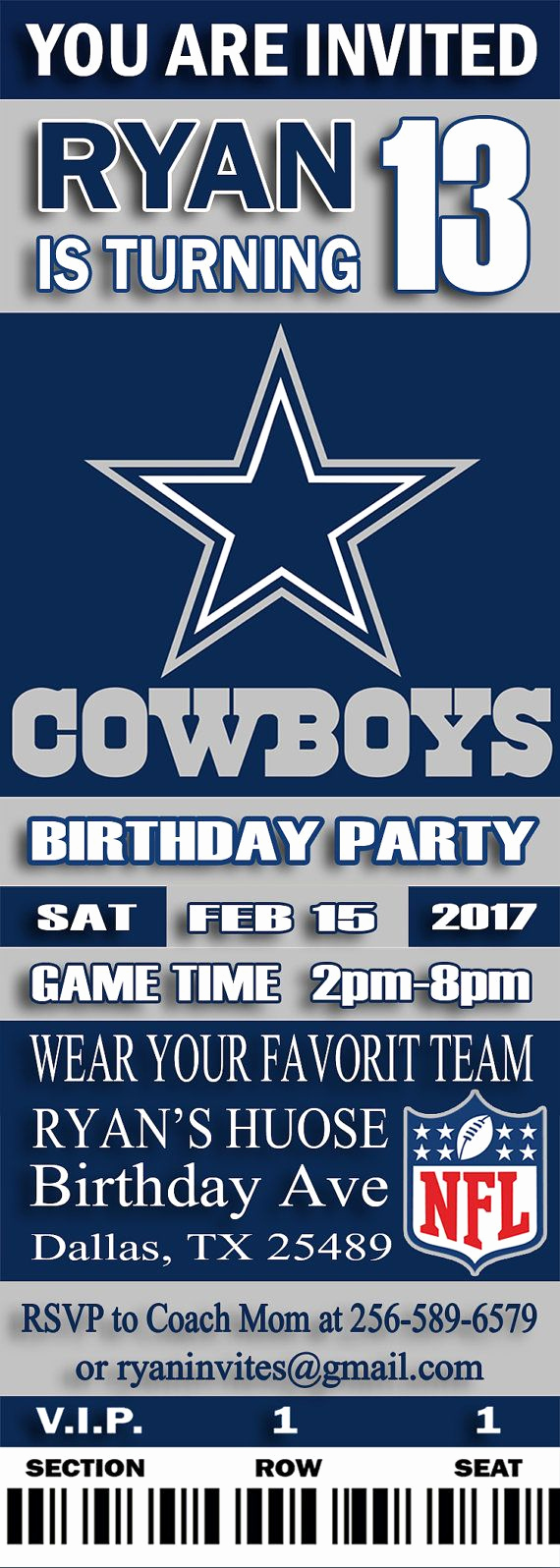 Dallas Cowboys Invitation Template Lovely 25 Best Ideas About Dallas Cowboys Tickets On Pinterest