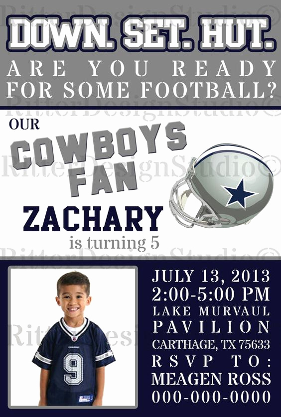 Dallas Cowboys Invitation Template Luxury Dallas Cowboys Football Cowboys Football and Football