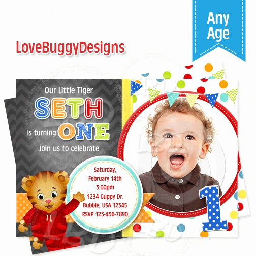 Daniel Tiger Birthday Invitation Awesome Daniel Tiger Invitation Daniel Tiger Birthday Invitations