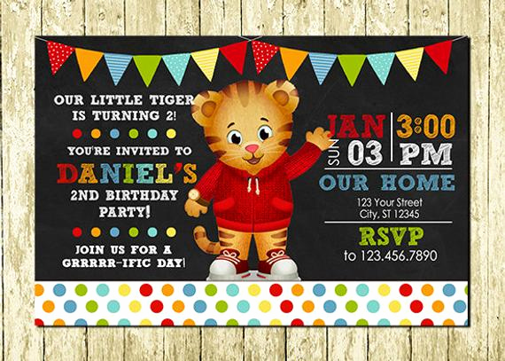 Daniel Tiger Birthday Invitation Best Of Daniel Tiger Digital Chalkboard Invitations