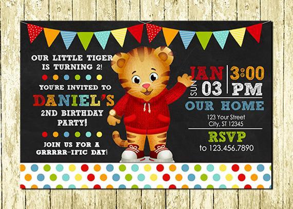 Daniel Tiger Birthday Invitation Best Of Daniel Tiger Digital Chalkboard Invitations